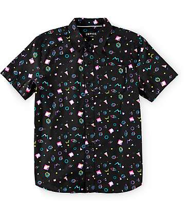 Empyre Boys Radical Black Button Up Shirt