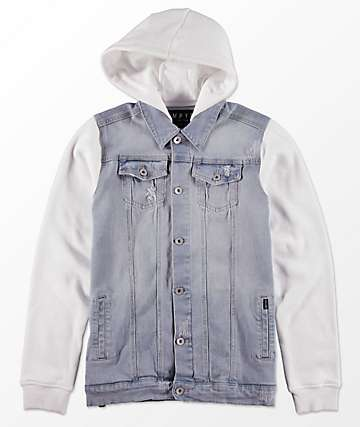 Empyre Boys Sidecar 2Fer Denim & Fleece Jacket