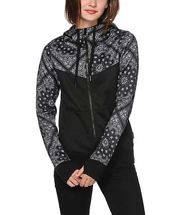 Empyre Bretton Black Bandana Tech Fleece Jacket
