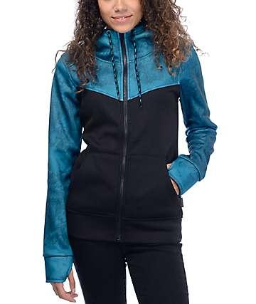 Empyre Bretton capucha con cremallera en azul y negro
