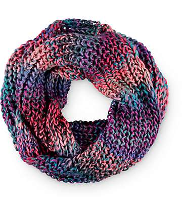 Empyre Bright Multi Chunky Knit Infinity Scarf