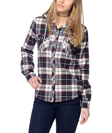 Empyre Bristol Blackberry Hooded Flannel
