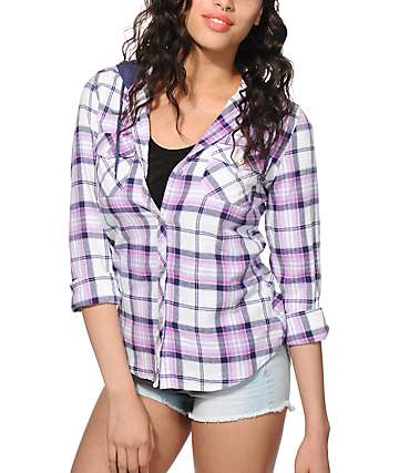 Empyre Bristol Purple Hooded Flannel