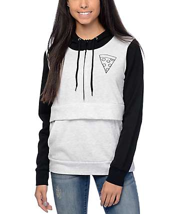 Empyre Brucey Pizza Grey & Black Hoodie