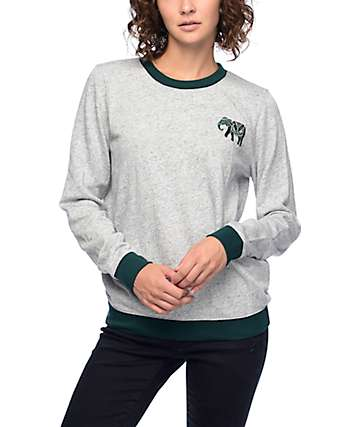 Empyre Bryce Adventure Green & Grey Crew Neck Sweatshirt