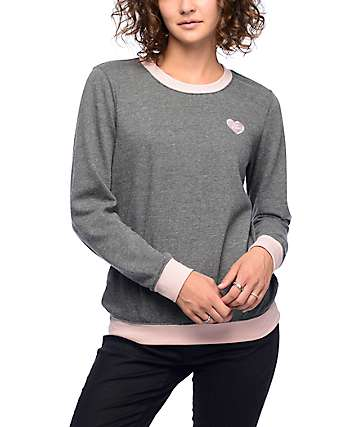 Empyre Bryce Not Sorry Grey Crew Neck Sweatshirt