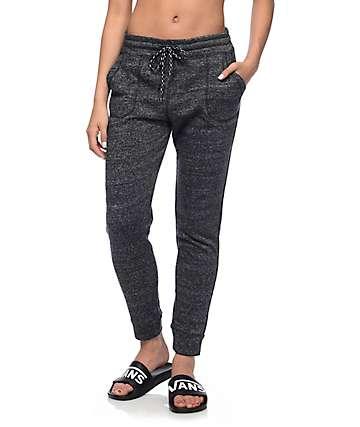 Empyre Brysen pantalones jogger moteados negros