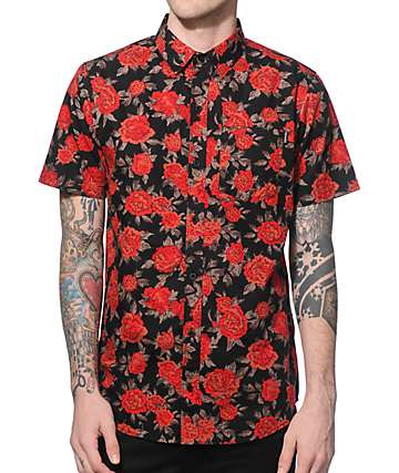 Empyre Buds Rose Button Up Shirt