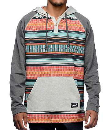 Empyre Burner Grey & Tribal Hooded Shirt