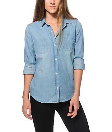 Empyre Calista Jacquard Denim Shirt