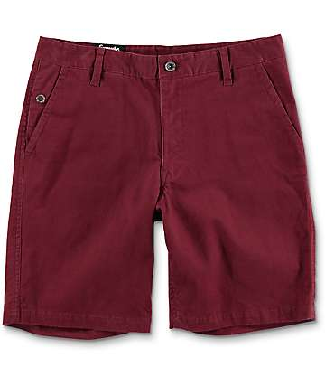 Empyre Calvin Burgundy Chino Shorts