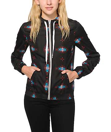 Empyre Carmen Black Tribal Windbreaker Jacket