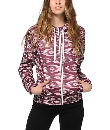 Empyre Carmen Blackberry Tribal Windbreaker Jacket