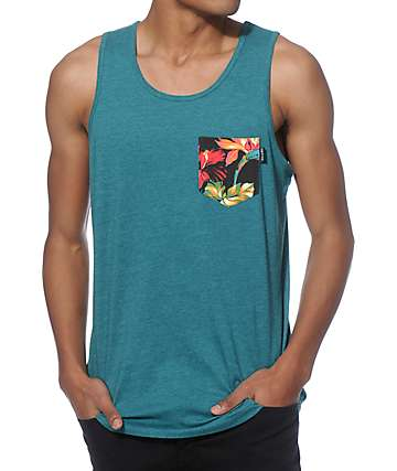 Empyre Cash Flow Tropical Pocket Tank Top