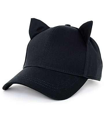 Empyre Cat Ear Onyx Black Strapback Hat