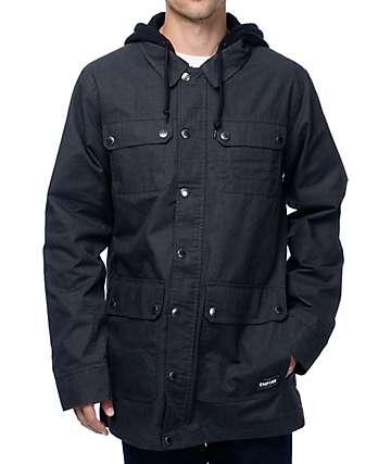 Empyre Cease chaqueta negra con patrón espiga