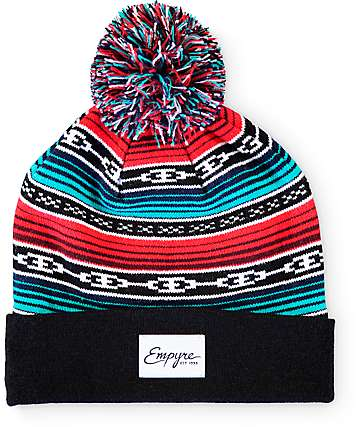 Empyre Chains Black & Multi Pom Beanie
