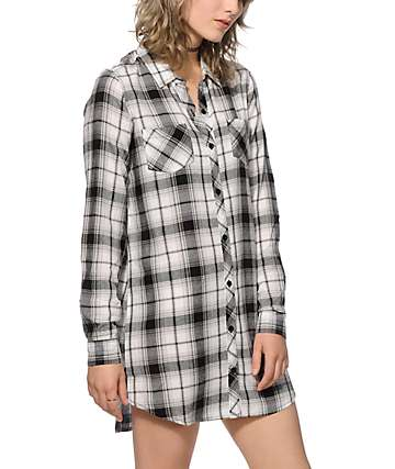 Empyre Charlie Plaid Shirt Dress