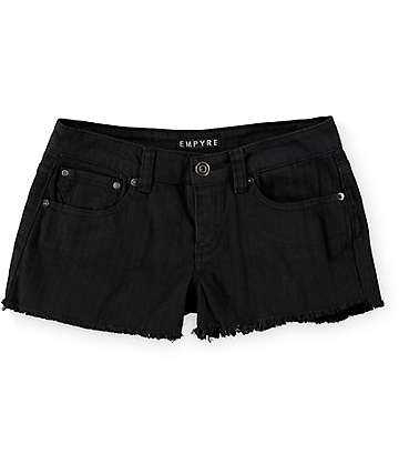 Empyre Cheyenne Black Denim Shorts