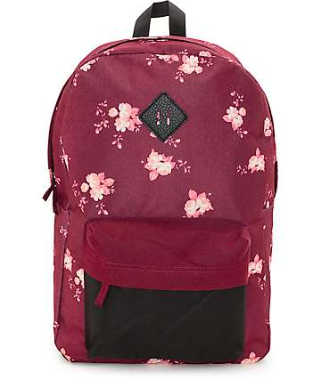 Empyre Chrissy New Red Floral Backpack