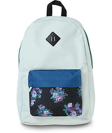 Empyre Chrissy Opal Blue Floral Backpack
