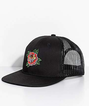 Empyre Classic Rose Black Trucker Hat