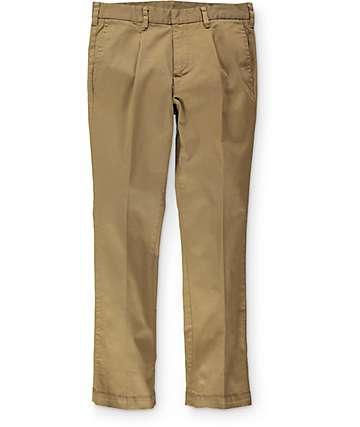 Empyre Classic pantalones chino color caqui oscuro plisado