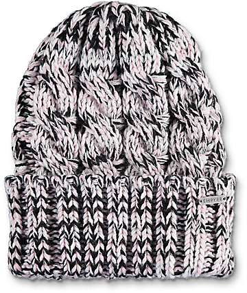 Empyre Coco Chunky Black, White & Pink Beanie
