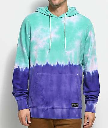 Empyre Coral Green & Purple Hoodie