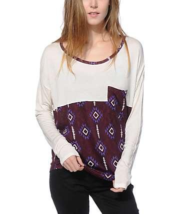 Empyre Corey camiseta dolman tribal borgoña
