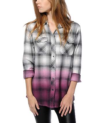 Empyre Cortland Blackberry Dip Dye Flannel Shirt
