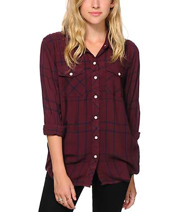 Empyre Cortland Blackberry Plaid Shirt