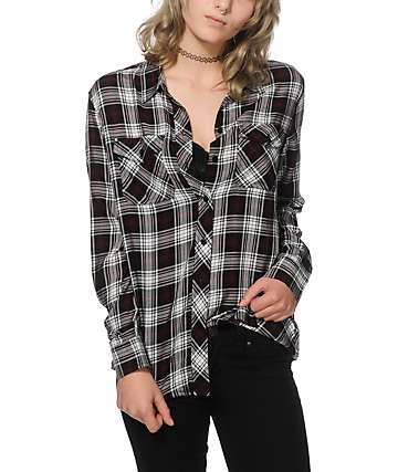 Empyre Cortland Red Mineral Wash Plaid Shirt