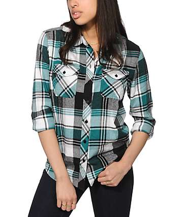 Empyre Cortland Teal Flannel Shirt