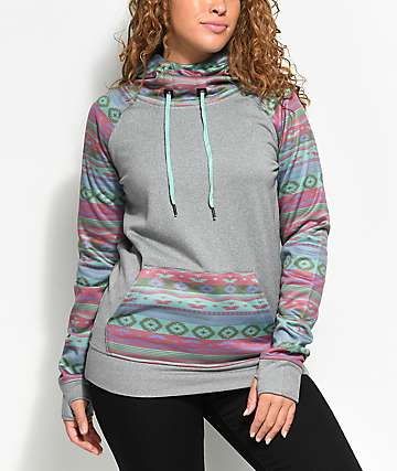Empyre Crestone Tech Fleece Navajo Grey Hoodie