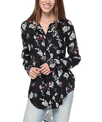 Empyre Dakota Floral Print Button Up Shirt