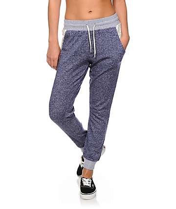 Empyre Dara Crochet Pocket Navy Speckle Jogger Pants