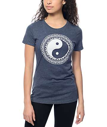Empyre Decorated Yin Yang Dark Navy T-Shirt
