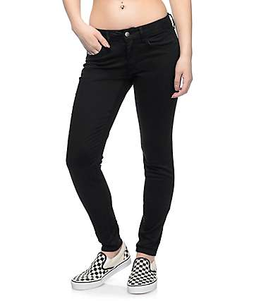 Empyre Delaney Black Sateen Skinny Jeans