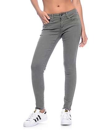 Empyre Delaney Olive Sateen Skinny Jeans