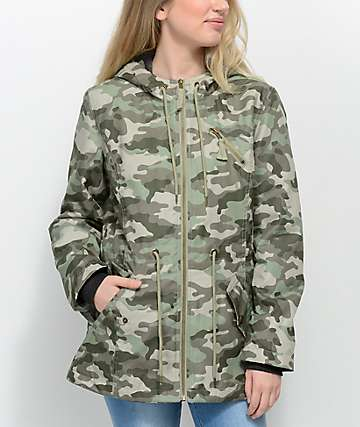 Empyre Delray Camo Hooded Jacket