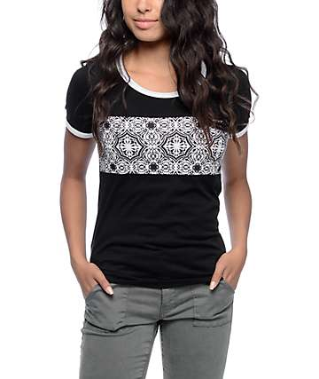 Empyre Deon Block Pattern Black T-Shirt