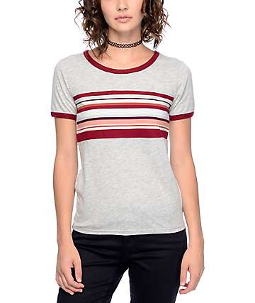Empyre Deon Block Stripe Grey T-Shirt