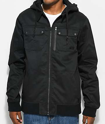 Empyre Derail Black Twill Hooded Jacket