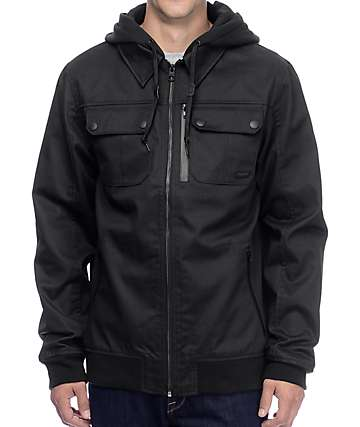 Empyre Derailed Twill Black Hooded Jacket