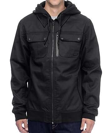 Empyre Derailed chaqueta con capucha de tela asargada en negro