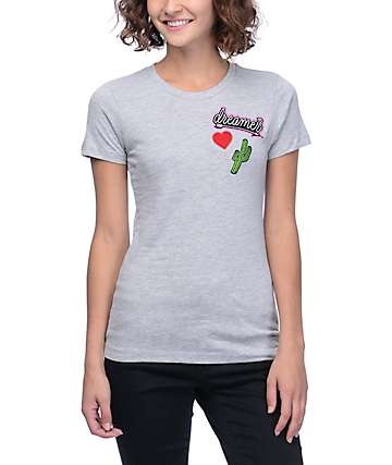 Empyre Desert Dreamer Patches Grey Boyfriend T-Shirt
