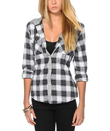 Empyre Devon Charcoal Flannel Shirt