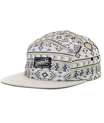 Empyre Digital Light Grey 5 Panel Hat