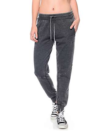 Empyre Dillon Burnwash Black Zip Pocket Jogger